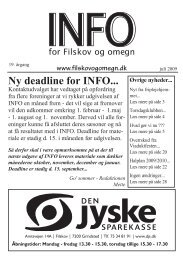 Ny deadline for INFO... - Filskov