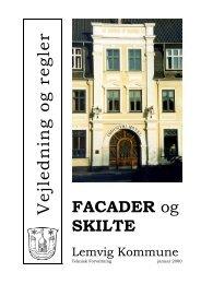 Vejledning om skilte og facader - Lemvig Kommune