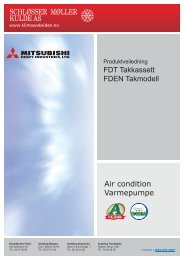 Produktveiledning FDT-FDEN - Schløsser Møller Kulde AS