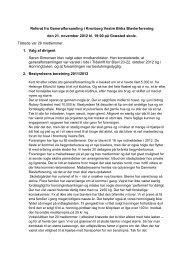 Referat fra Generalforsamling - Kronborg Vestre Birks Biavlerforening