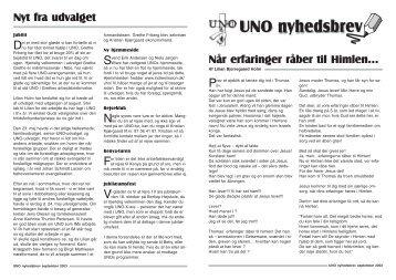 UNO nyhedsbrev