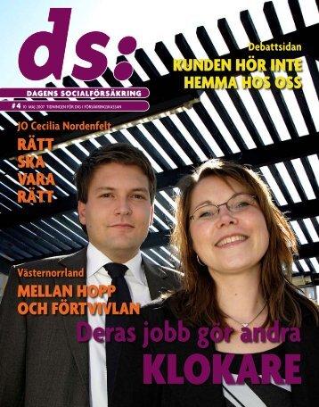 DS (pdf 4 370 kB, öppnar nytt fönster) - Försäkringskassan