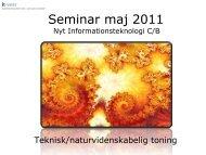 Seminar maj 2011 - IT-Vest