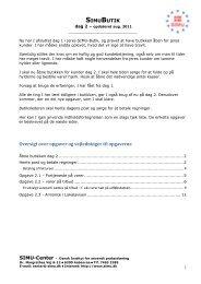 SIMUBUTIK Oversigt over opgaver og vejledninger til opgaverne