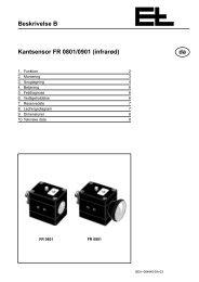 Beskrivelse B Kantsensor FR 0801/0901 (infrarød ... - Erhardt+Leimer