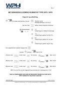 betjeningsvejledning klimastat type 5475 / 5476 - WPH Teknik Tel ... - Page 7