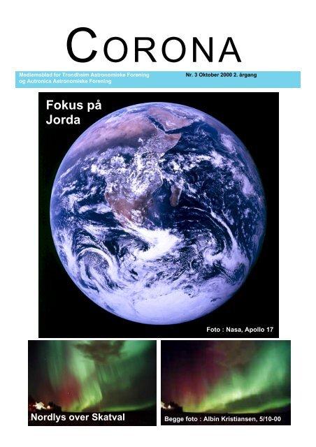Corona nr. 3/2000 - Trondheim Astronomiske Forening