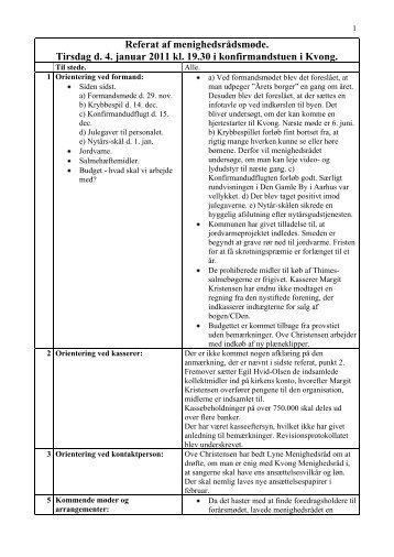 Referat, 4. januar 2011, pdf-format. - Kvong Kirke