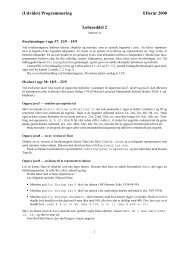 (Udvidet) Programmering Efterår 2000 Løbeseddel 2