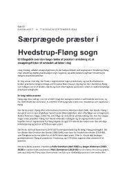 Særprægede præster i Hvedstrup-Fløng sogn - Kirkerup Kirke