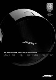 FreeSpace 3 Series II System - Professional Systems Division - Bose