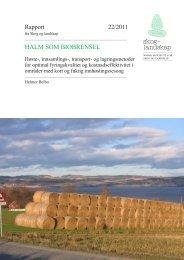 HALM SOM BIOBRENSEL - Skog og landskap