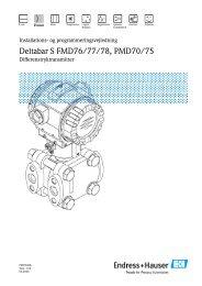 Deltabar S FMD76/77/78, PMD70/75 - Endress & Hauser A/S