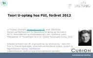 Teori U-oplæg hos FUI, foråret 2012 - Cubion