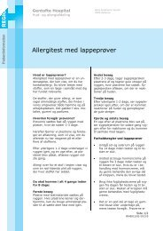 Allergitest med lappeprøver - EPIS - Gentofte Hospital