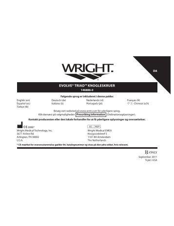 evolve® triad™ knogleskruer - Wright Medical Technology, Inc.