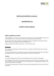 Eksamensregler og retningslinjer - VIA University College