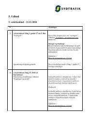 5. Udbud 3. rettelsesblad – 22.11.2010 - Sydtrafik