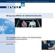 Brug og effekt af sikkerhedssele - HVU