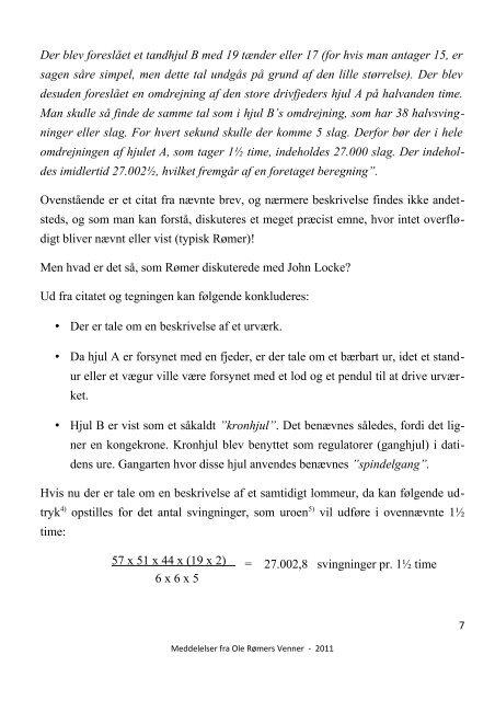 Meddelelser 2011 - Ole Rømers Venner