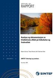 SINTEF Rapport Friluftsliv og helse - desember 2009 - Friluftslivets ...