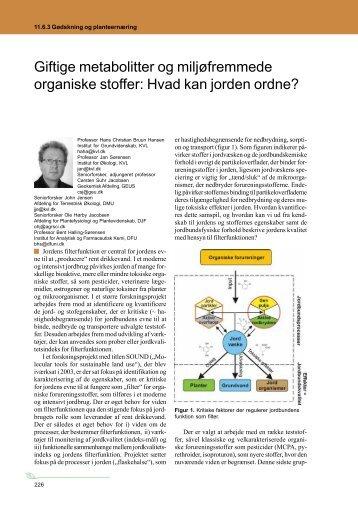 Giftige metabolitter og miljøfremmede organiske ... - LandbrugsInfo