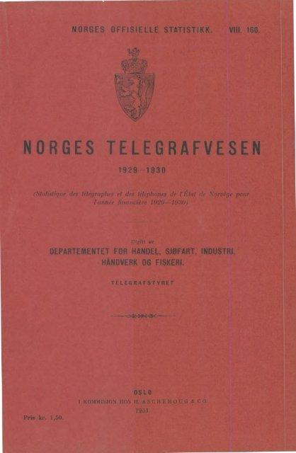 Norges telegrafvesen 1929-1930