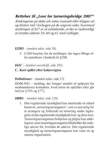 rettelsesblad 1