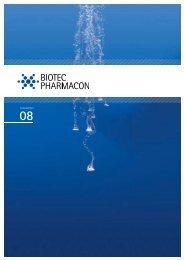 Årsrapport 2008 Biotec Pharmacon - Biotec Pharmacon ASA