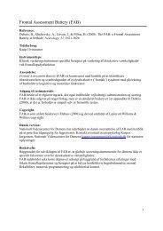 Frontal Assessment Battery (FAB) - Nationalt Videnscenter for Demens