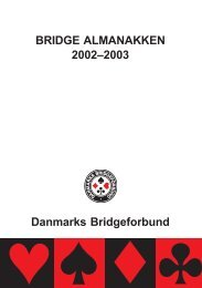 BRIDGE ALMANAKKEN 2002–2003 Danmarks Bridgeforbund