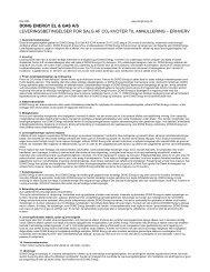 dong energy el & gas a/s leveringsbetingelser for salg af el - erhverv
