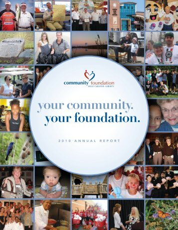your community. your foundation. - Community Foundation of West ...