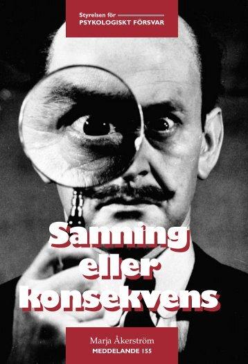 Sanning eller konsekvens.pdf - Myndigheten för samhällsskydd och ...