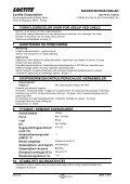 SIKKERHEDSDATABLAD Loctite Corporation 1. IDENTIFIKATION ... - Page 2