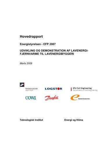 Udvikling og demonstration af lavenergifjernvarme til lavenergibyggeri