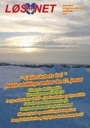 * Fællesskabets årti * Politik-udviklings-seminar den 22. januar - LøS