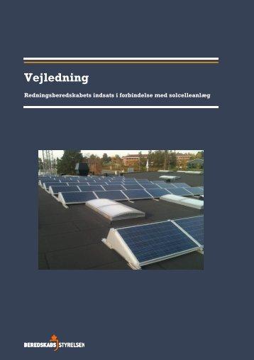 Vejledning om indsats i forbindelse med solcelleanlæg