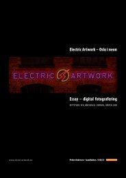 Electric Artwork – Oslo i neon Essay – digital fotografering
