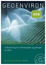 Indberetning af vandmængder og -pejlinger - Geokon