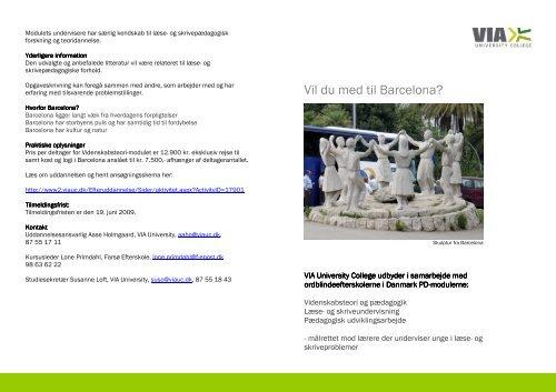Brochure Vil du med til barcelona endelig version - Fakta om ...