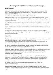 Beretning fra generalforsamlingen 2011 - Guldvangen