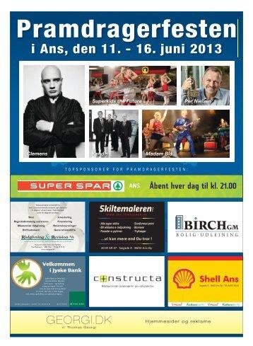 i Ans, den 11. - 16. juni 2013 - Pramdragerfesten i Ans 2013
