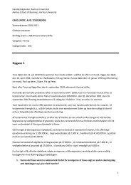 Opgave 1 - For Studerende - Aarhus Universitet
