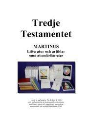 Register över Martinus böcker, artiklar och andra skrifter - Pia Hellertz