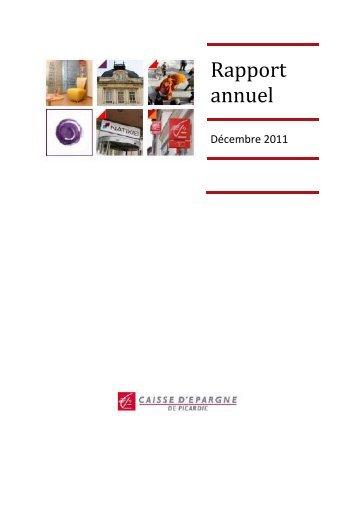 Rapport annuel - Caisse d'épargne
