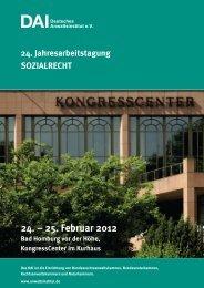 24. – 25. Februar 2012 - Deutsches Anwaltsinstitut eV