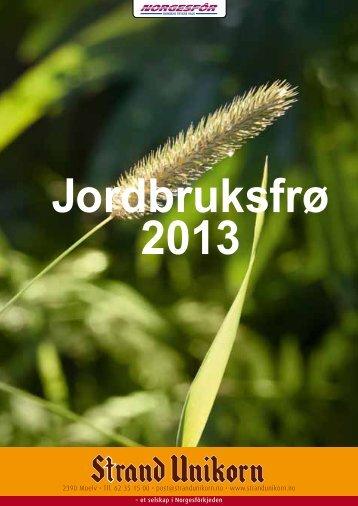 Jordbruksfrø 2013 - Norgesfôr
