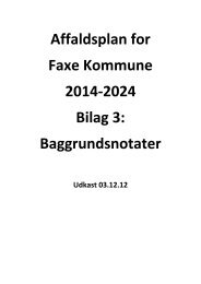 Affaldsplan for Faxe Kommune 2014-2024 - Baggrundsnotater