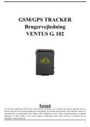 VENTUS G. 102 GPS-tracker manual- danish
